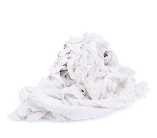 White tricot rags